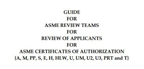 ASME Check List